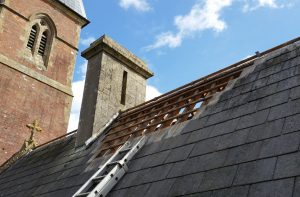 Tile strips removed at Stapehill Abbey